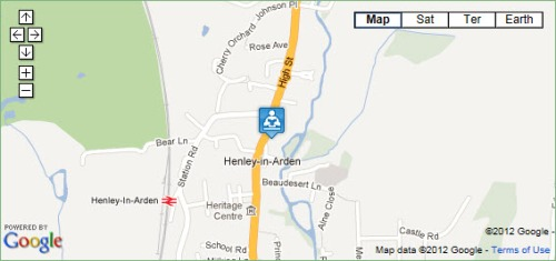 Location of Henley Community Library