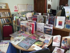 Craft books on display