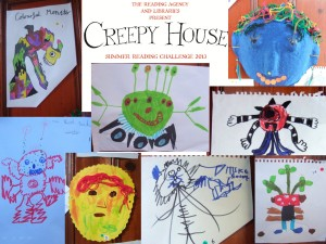 Entries for the Creepy House Monster drawing competation