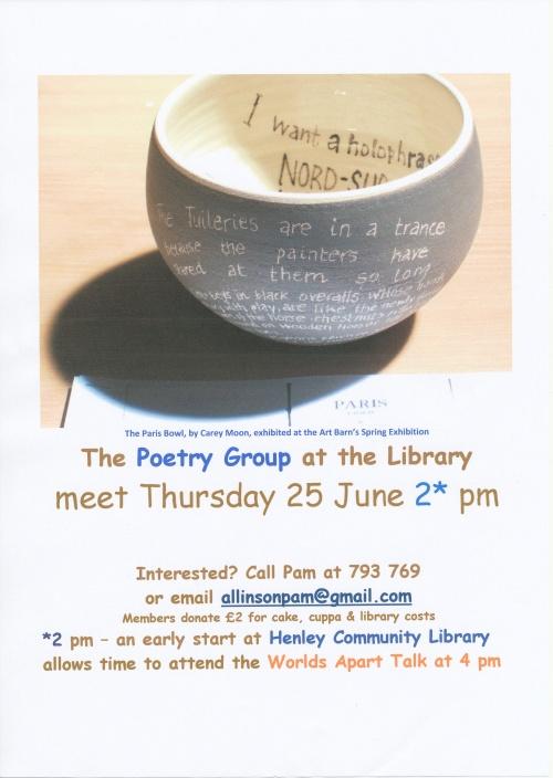 Poetry Group  June 25