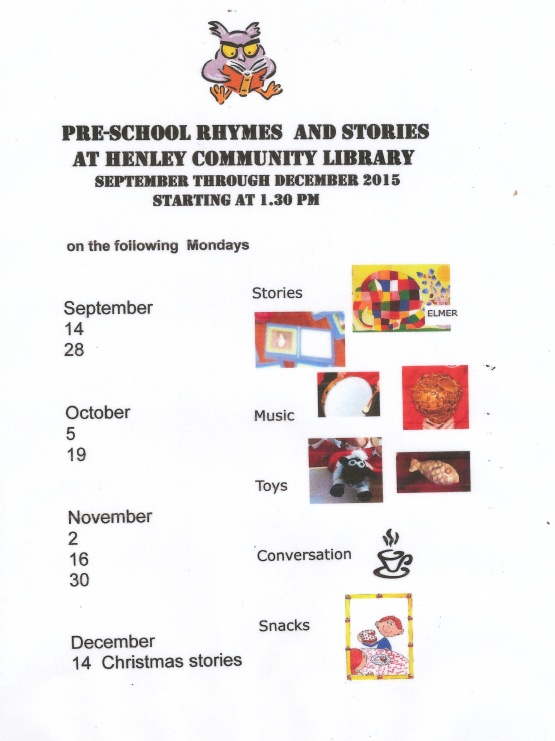 Rhymes and Stories Autumn Dates 2015