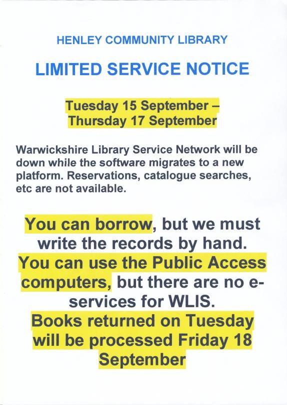 Limited Service September 2015